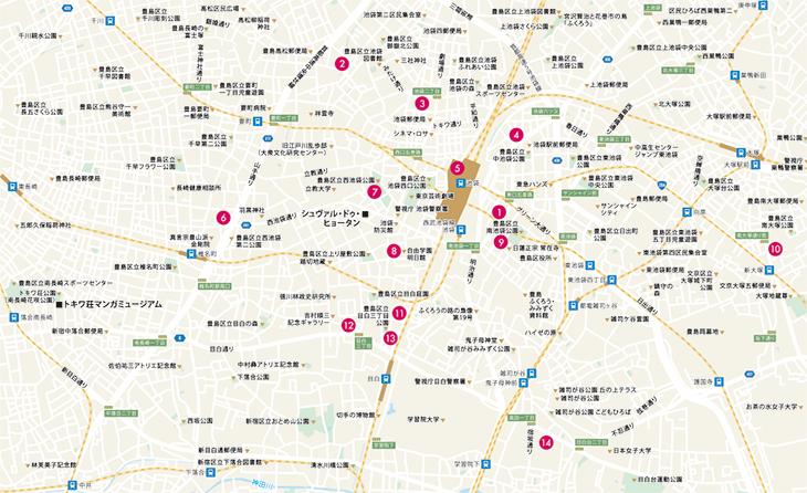 日経REVIVE 2021年6月号 池袋マップ