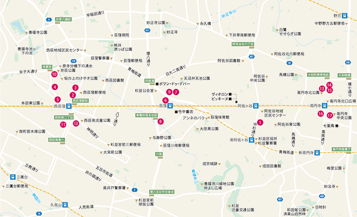 日経REVIVE 2021年8月号 高円寺・阿佐ヶ谷・荻窪マップ